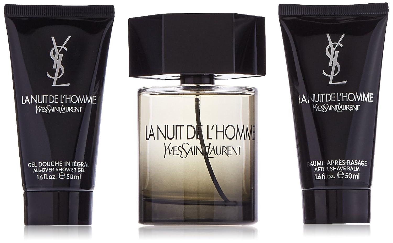Yves Saint Laurent La Nuit De L'Homme for Men 3 Piece Gift Set