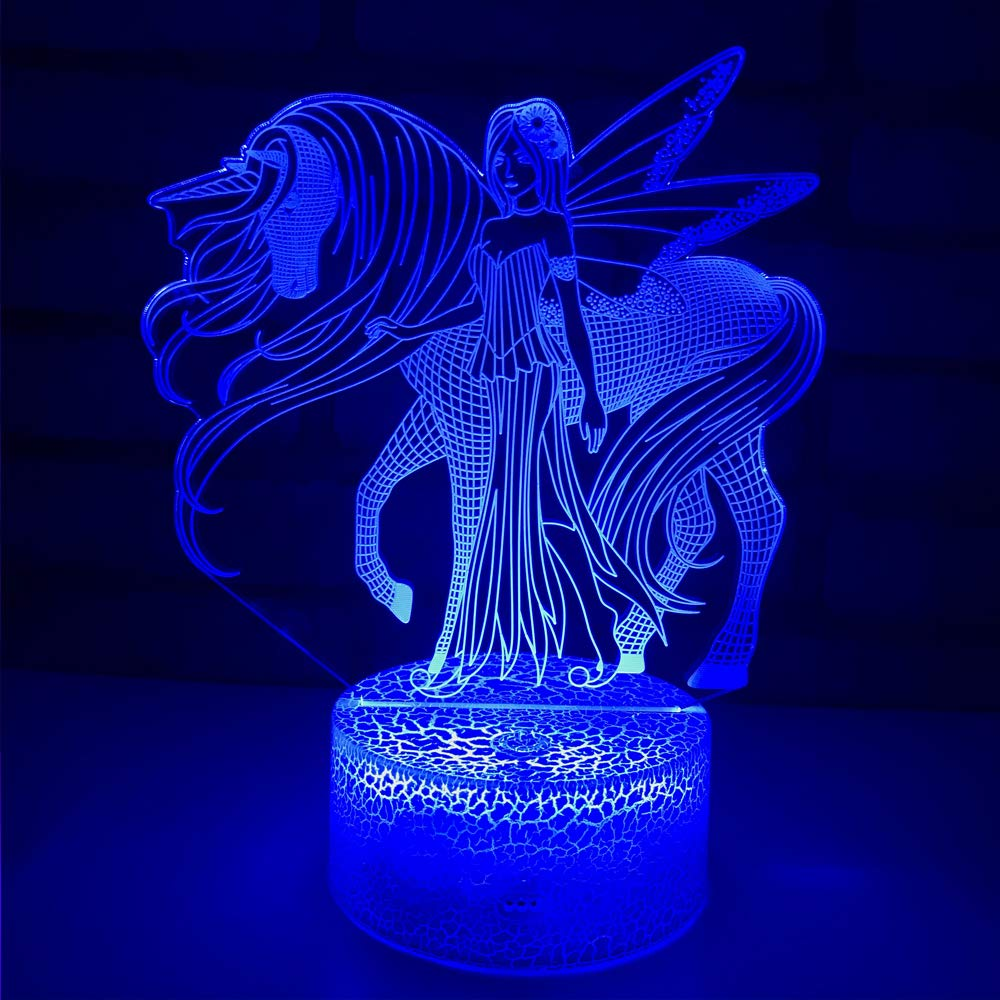 Amazon.com: Luz nocturna de 16 colores cambiantes 3d óptica ...