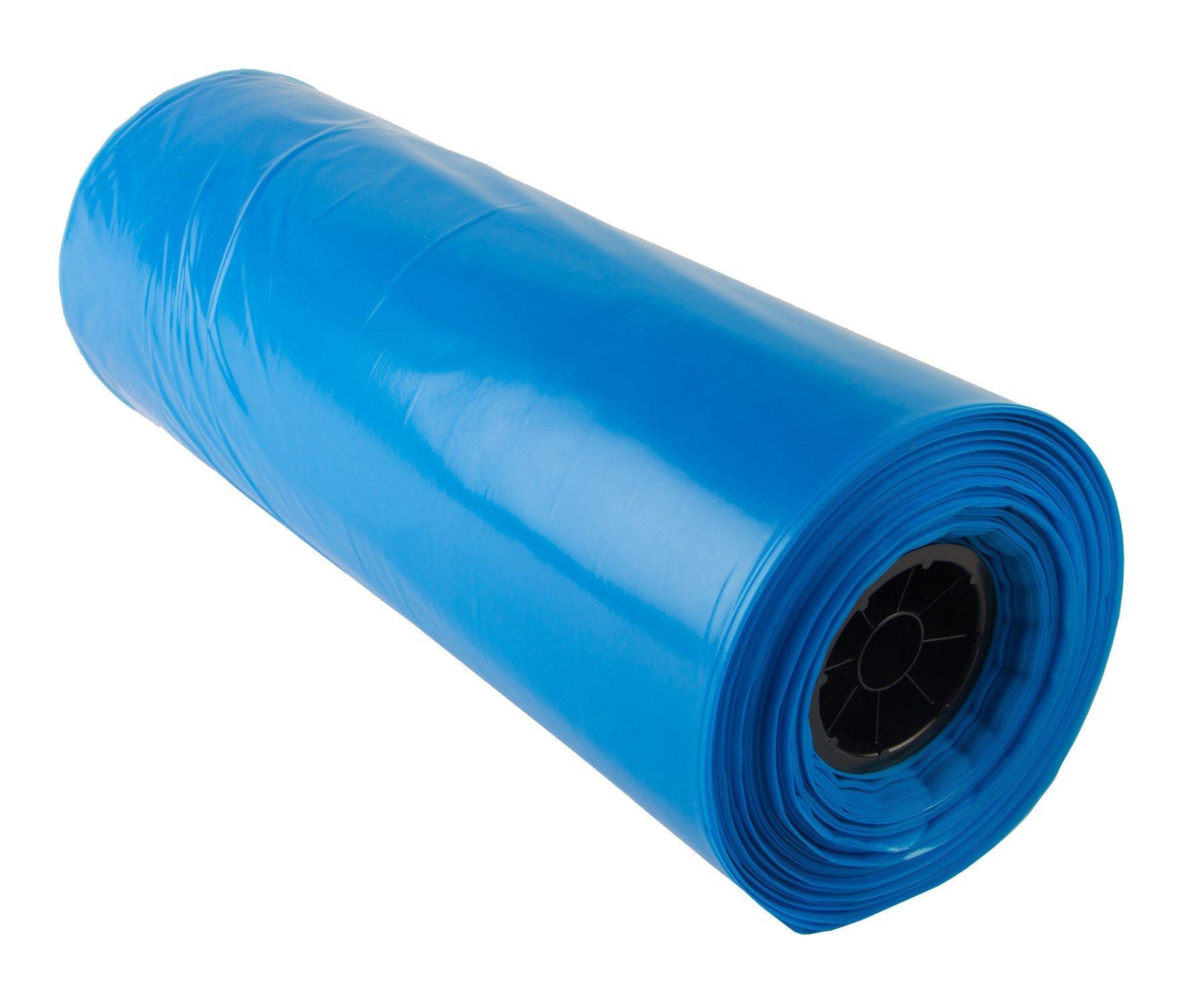 Hudson Exchange LDPE 5 Gallon Bucket Liner, Food Grade, 20'' W x 30'' L, 3 Mil, Blue, Roll of 200