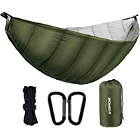 Overmont Undertäcke hängmatta TÜV-certifierad campinghängmattor utomhus sovmatta underfilt vinter sovsäck ultralätt