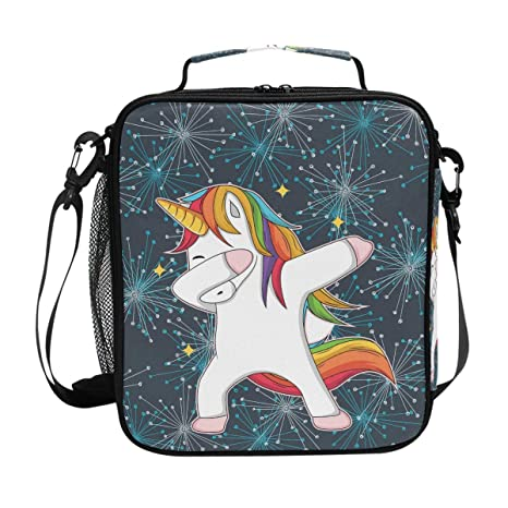 9e0d79bb5f47 Amazon.com: Insulated Lunch Box Unicorn With Star Large Lunch Bag ...