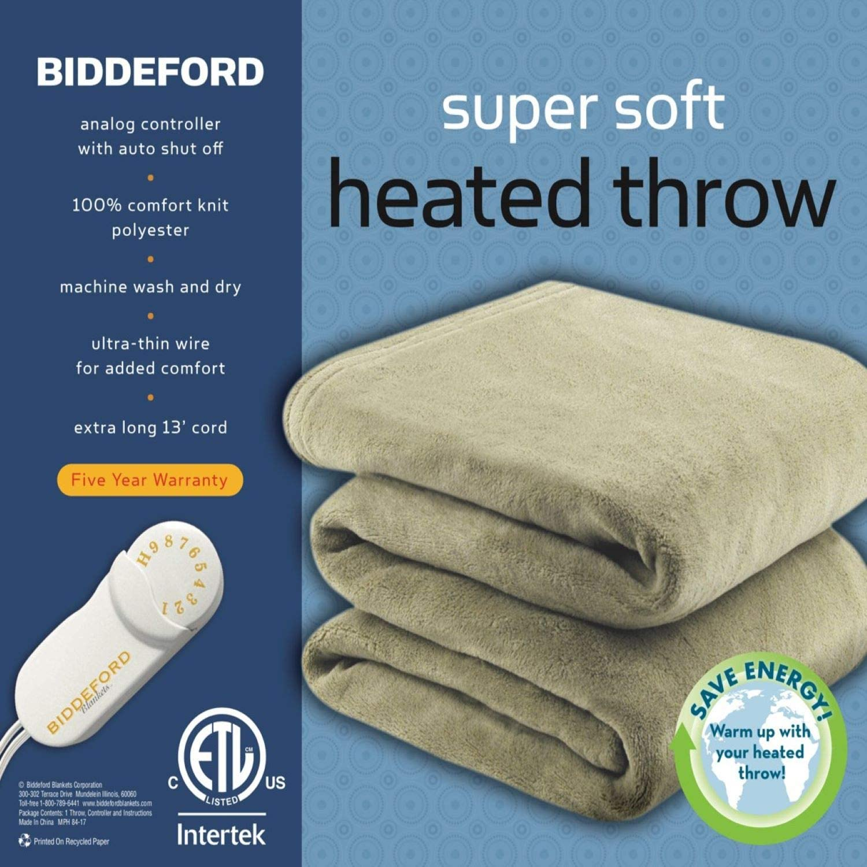 Amazon Com Biddeford Blankets 4440 907484 300 Heated Throw Brick Home Kitchen