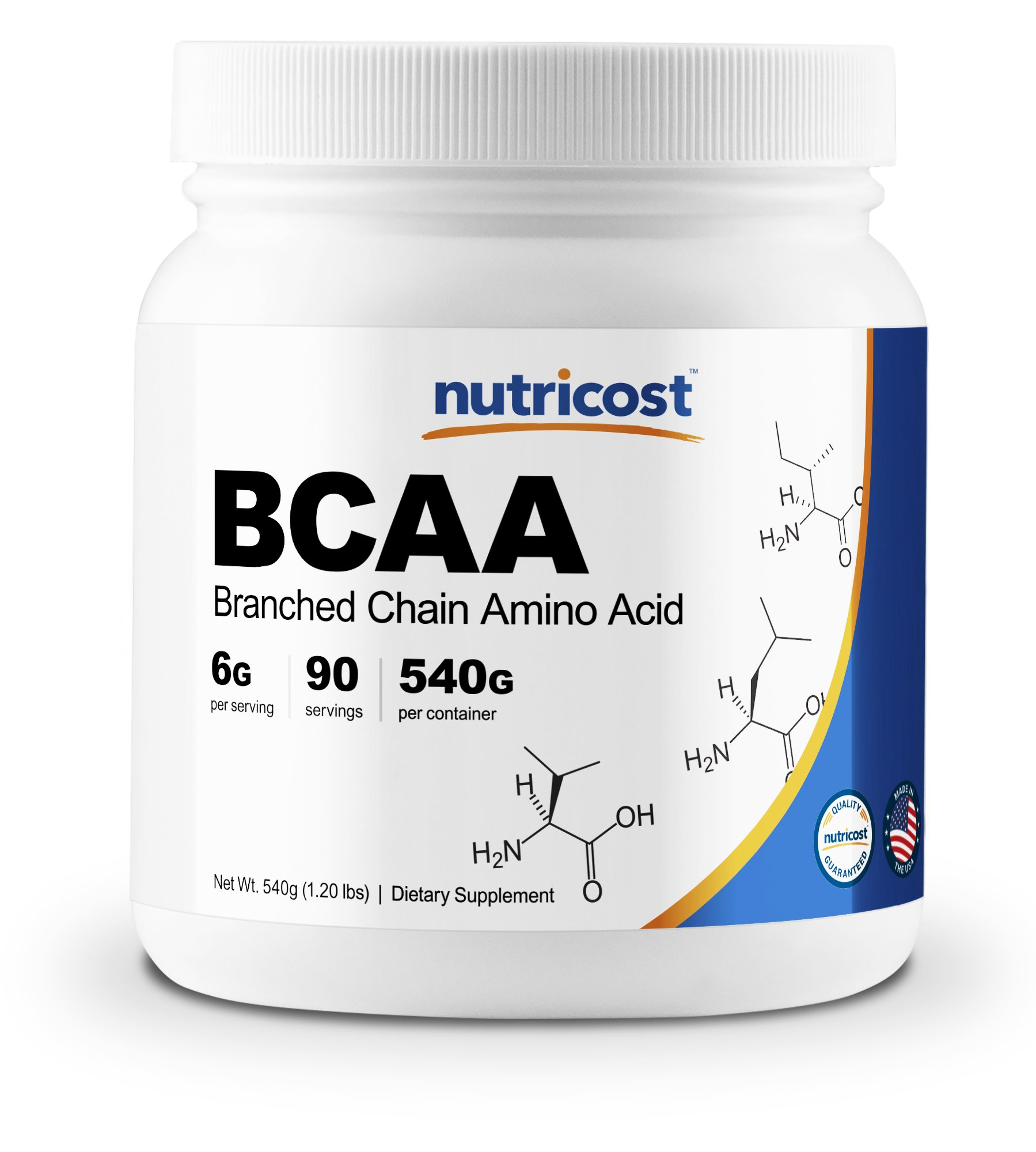Nutricost BCAA Powder 2:1:1 90 Servings - High Quality Branched Chain Amino Acids