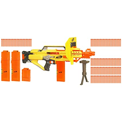 Nov 15, 2010. The nerf n-strike stampede ecs blaster by hasbro is the nerf gun you. However, before you run out to buy a nerf stampede blaster, there.