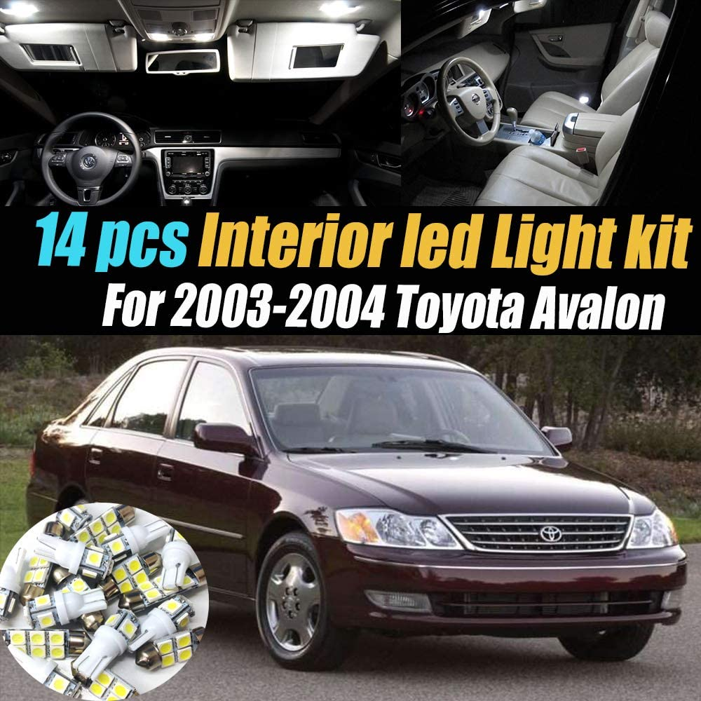 amazon com 14pc super white 6000k interior led light bulb kit package compatible for 2003 2004 toyota avalon automotive 14pc super white 6000k interior led light bulb kit package compatible for 2003 2004 toyota avalon