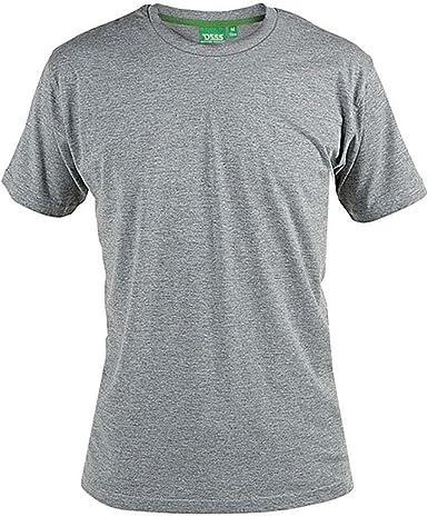 D555 Hombre Nuevo Premium Peso Algodón Peinado Tamaño King Camiseta Cuello en Pico Gris: Amazon.es: Ropa y accesorios