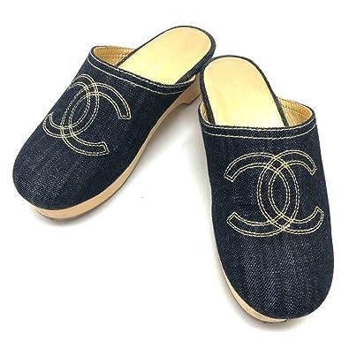 d0b711604a49 (シャネル) CHANEL CC ココマーク デニム サボ サンダル 靴 デニム/レディース 中古
