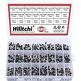 Hilitchi 24-Values 2N2222-S9018 / BC327-BC558 NPN PNP Power General Purpose Transistors Assortment Kit - Pack of 840