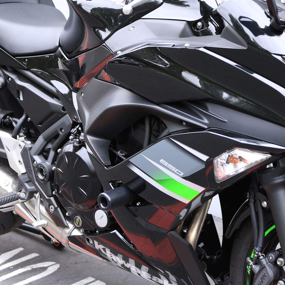Shogun Kawasaki Ninja 650 EX 2017 2018 2019 NO CUT Complete Kit Black Includes Bar Ends Swing Arm Spools and Frame Sliders 755-4519 - MADE IN THE USA