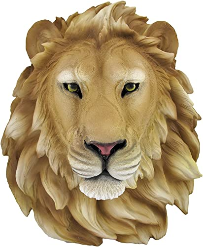 Private Label African Lion Head Mount Wall Statue Bust Leo