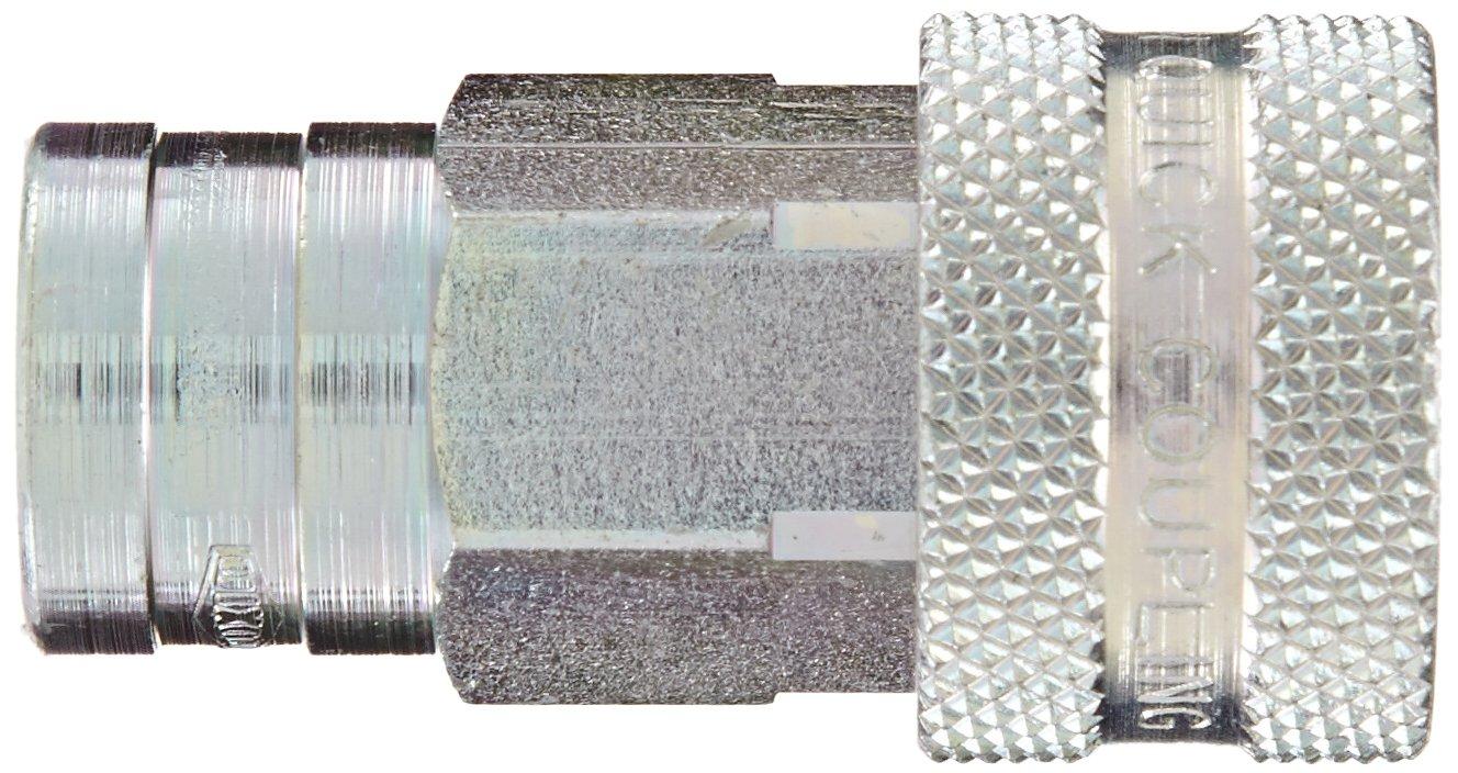 Coupler Dixon 2KF2 Steel ISO-A Interchange Hydraulic Fitting 1//4 Coupling x 1//4-18 NPTF Female Thread 1//4 Coupling x 1//4-18 NPTF Female Thread Dixon Valve /& Coupling