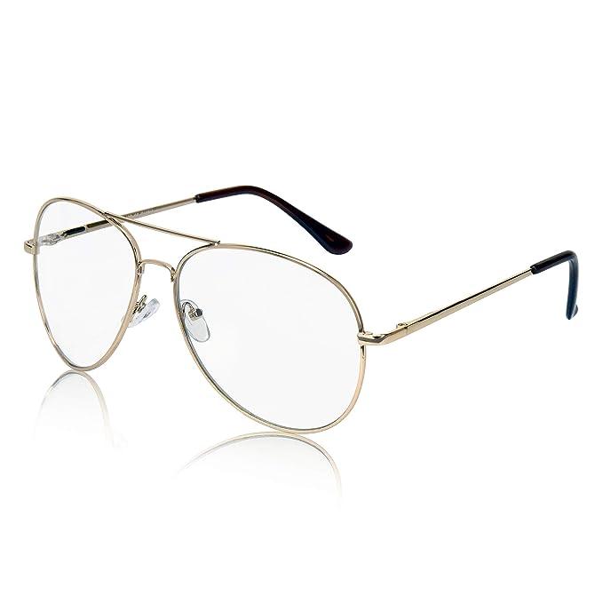 Amazon.com: Sunny Pro - Gafas de aviador (marco de metal ...