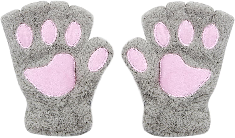 Cute Cat Paw Fingerless...
