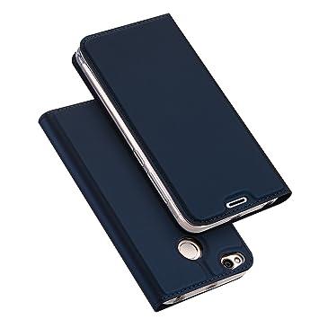 Xiaomi RedMi 4X Funda, SMTR Ultra Silm de PU Cuero Flip, Leather Wallet Case Cover Carcasa Funda con Ranura de Tarjeta Cierre Magnético y función de ...