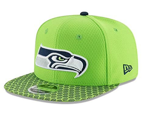 998876fe1 Image Unavailable. Image not available for. Color  Seattle Seahawks New Era  Sideline Snapback Hat Cap - Neon   Lime Green