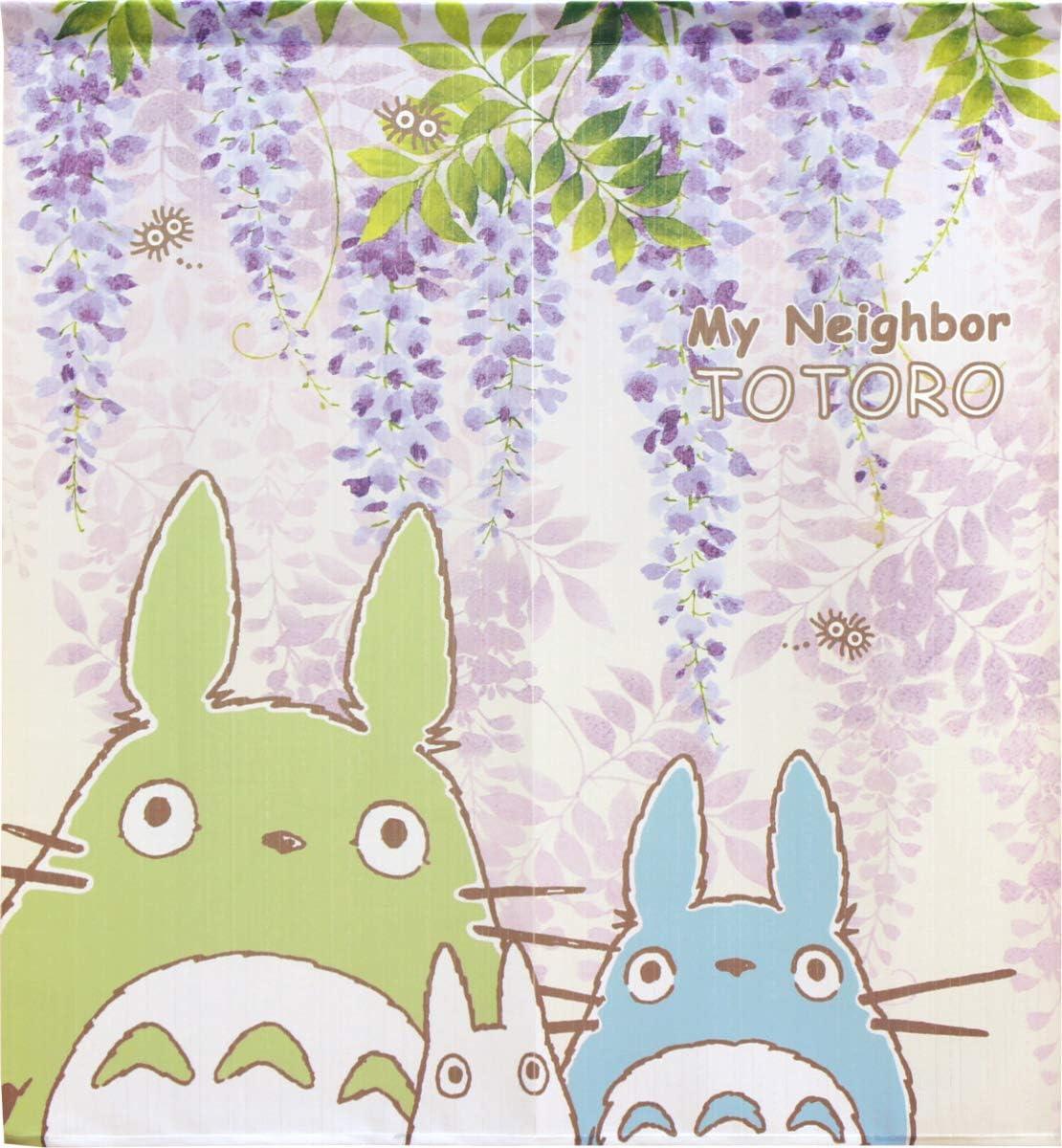 Cosmo Noren Japanese Curtain My Neighbor Totoro Wisteria & Totoro 33.45 x 35inch