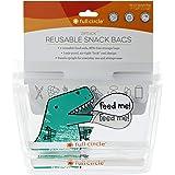 Full Circle ZipTuck, Reusable Snack Bag Set, Dinosaur