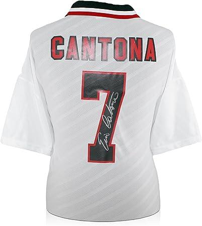 Eric Cantona firmó Manchester United 1996 camisa de Umbro de ...