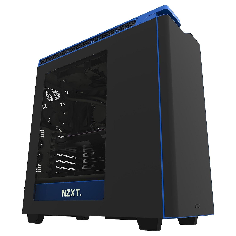 NZXT CA-H442W-M4 H440 - Caja de ordenador formato ATX con ventana, Negro/Azul: Amazon.es: Informática