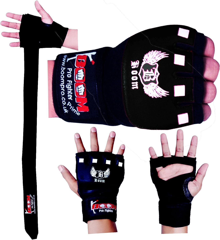 Artes Marciales BOOM Pro Guantes de MMA Interior de Gel Neopreno Vendaje para Boxeo