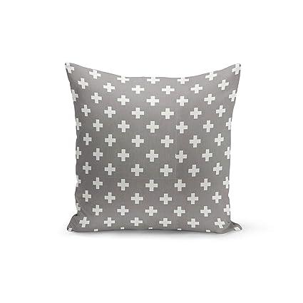 Amazon.com: Funda de almohada Athena Bacon gris con diseño ...