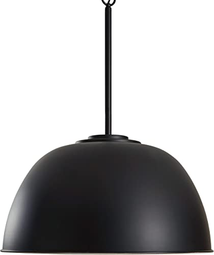 Amazon Brand Stone Beam Vintage Large Format Pendant Light with Bulb, 26 H, Black
