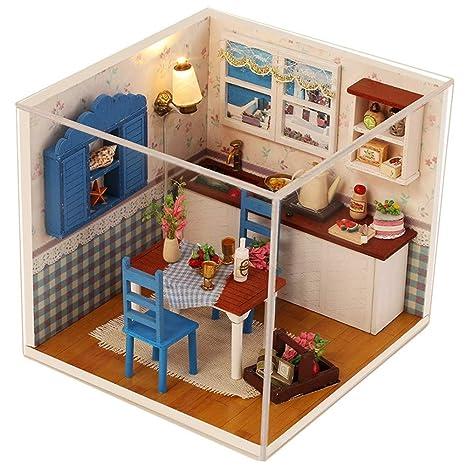 Amazing Amazon Com Basde Wooden Diy Dollhouse Miniature House 3D Download Free Architecture Designs Scobabritishbridgeorg