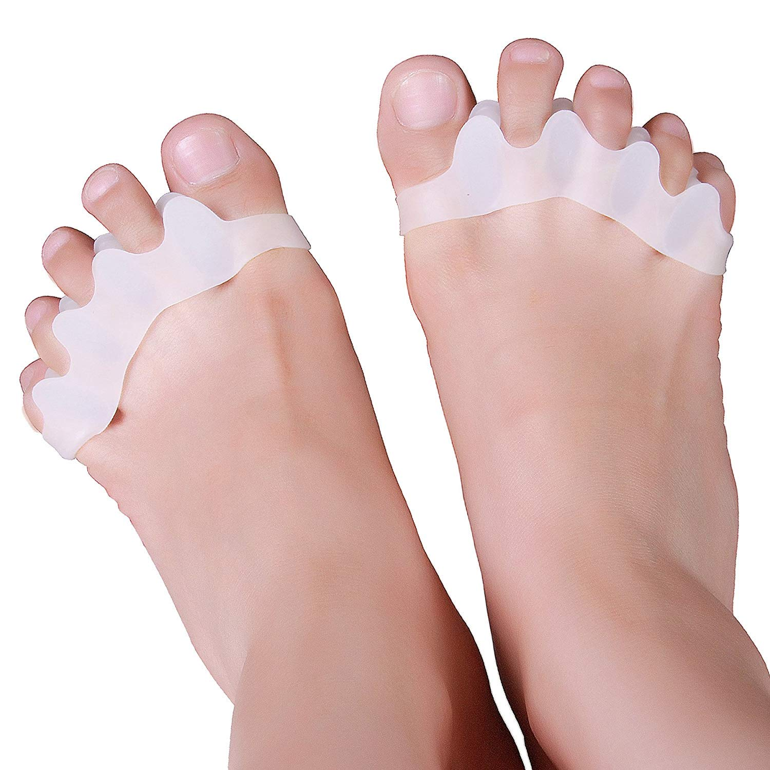 Bunion Corrector Pad Gel Toe Separators Hammer Hallux Valgus Correction 1pair Silicone Foot Fingers Separator Thumb Protect Toes Stretchers Bunions Relief For Hammertoe Overlapping Big Straightener