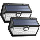 Mpow 40 LED Solar Light, Super Bright [Newest Version] 3 Modes Security Lights, 120° Wide-Angle Motion Sensor, Improved Solar Panel IP65 Waterproof Outdoor Light, Pack of 2