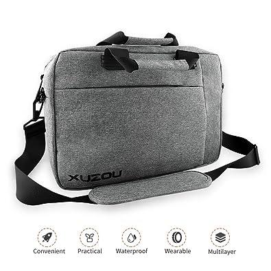 Amazon.com: XUZOU Maletín para ordenador portátil, 15,6 ...