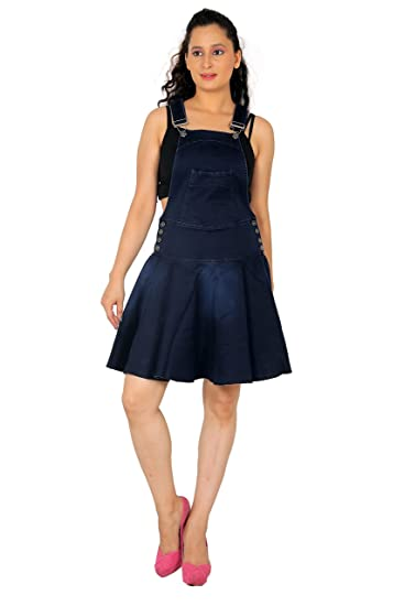 90911cfa7b2 FCK-3 Women s Stretchable Denim Stylish Skirt Dungaree  Amazon.in ...