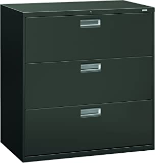 product image for HON 693LS 600 Series 42-Inch by 19-1/4-Inch 3-Drawer Lateral File, Charcoal
