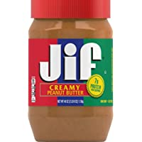 Jif Creamy Peanut Butter, 40 Ounces, 7g (7% DV) of Protein per Serving, Smooth, Creamy Texture, No Stir Peanut Butter