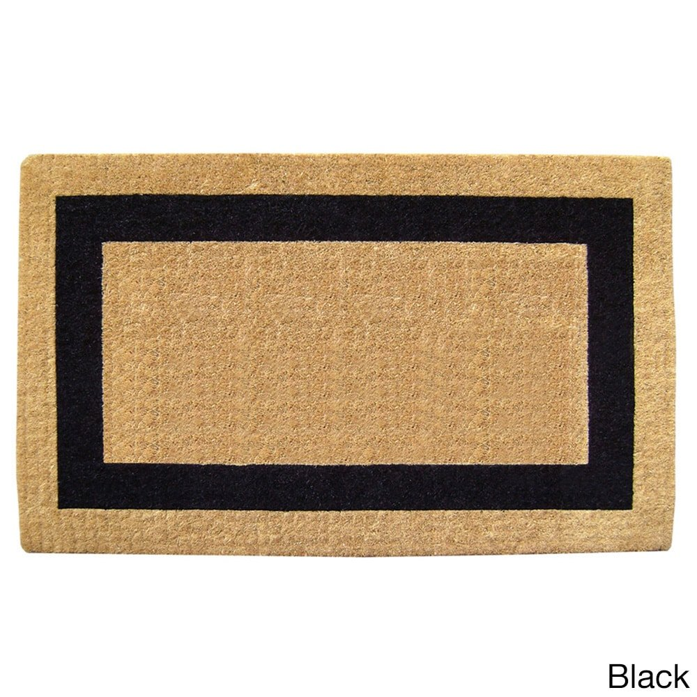 Nedia O2031 Not Applicable Heavy Duty  38'' x 60'' Coco Mat Black Single Picture Frame, Plain
