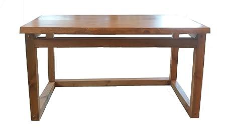 Scrivania in legno massello-desk: Amazon.it: Casa e cucina