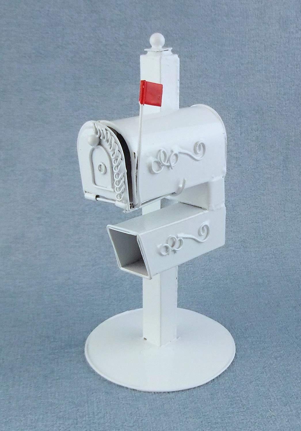 Dollhouse Miniature Mailbox on Stand Stand Stand 4147d0 - kiujo