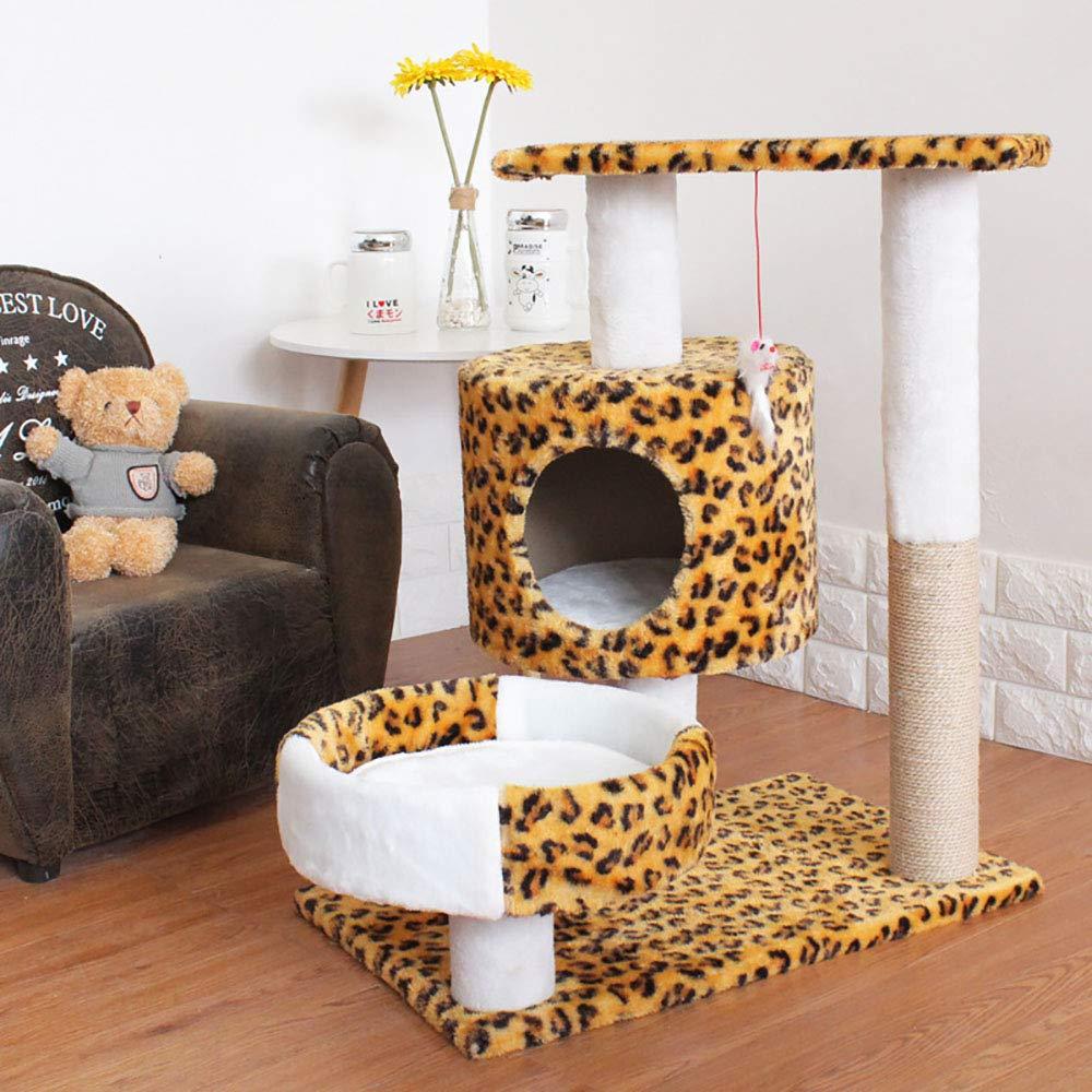Leopard SuperJOJOLEE Luxury Cat Climbing Frame Cat Tree Cat Litter Cat Toy Cat Scratch Board Cat Jumping Platform Sisal Cat Climbing Frame