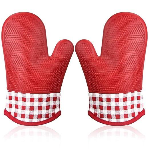 Manopla Horno Silicona para Cocina, Oven Gloves Antideslizante ...