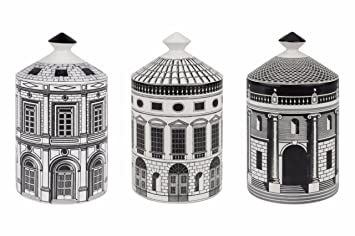 Fornasetti Set of three Architettura Otto scented candles aUxwiy0Mt