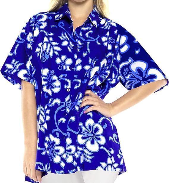 Bot n Superior Vestido de la Blusa Camisa de Ropa de Playa Hawaiano Abajo Encubrimiento