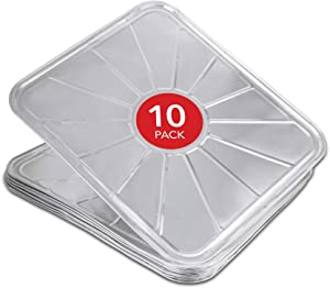 "Disposable Foil Oven Liners (10 Pack) Oven Liners for Bottom of Electric Oven and Gas Oven - Reusable Oven Drip Pan Tray for Cooking and Baking - 18.5"" x15.5"""