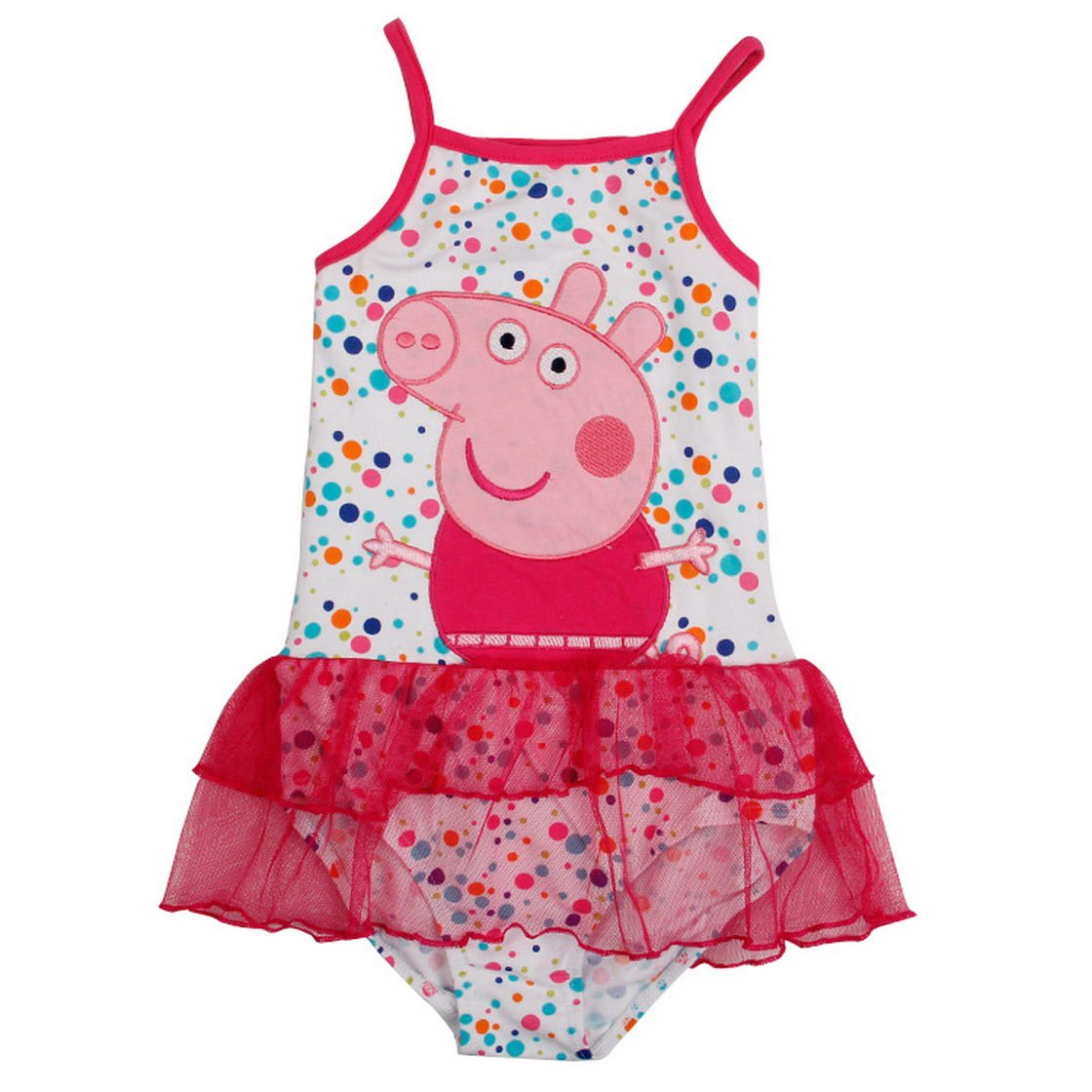 Peppa Pig Little Girls Dot Cotton Swimsuits 2-8Y