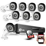 XVIM 8CH 1080P Home Security Camera System with 2TB Hard Drive Outdoor IP66 Waterproof CCTV Recorder 8pcs HD 1920TVL…