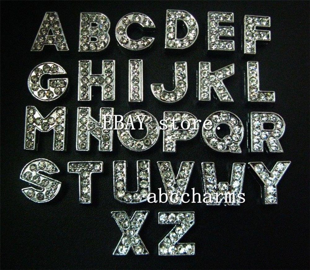 FidgetFidget Wholesale 1300pcs 8mm Rhinestone Slide Letters Charms fit Name Collar Bracelets