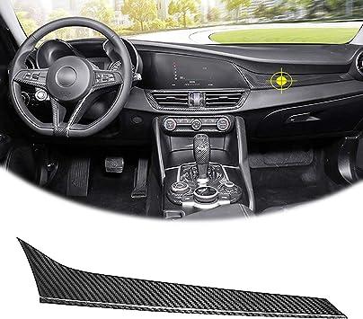 Gear Shift Panel Cover For Alfa Romeo Giulia Stelvio 2017 2018 Carbon Fiber ha