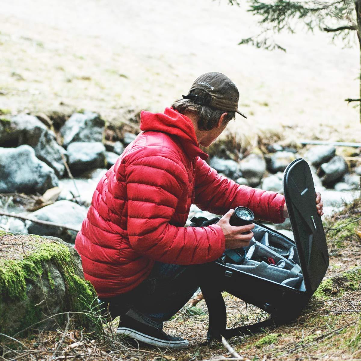 Endurax Kamerarucksack f/ür Spiegelreflexkameras und Fotozubeh/ör mit 14 Zoll Laptopfach