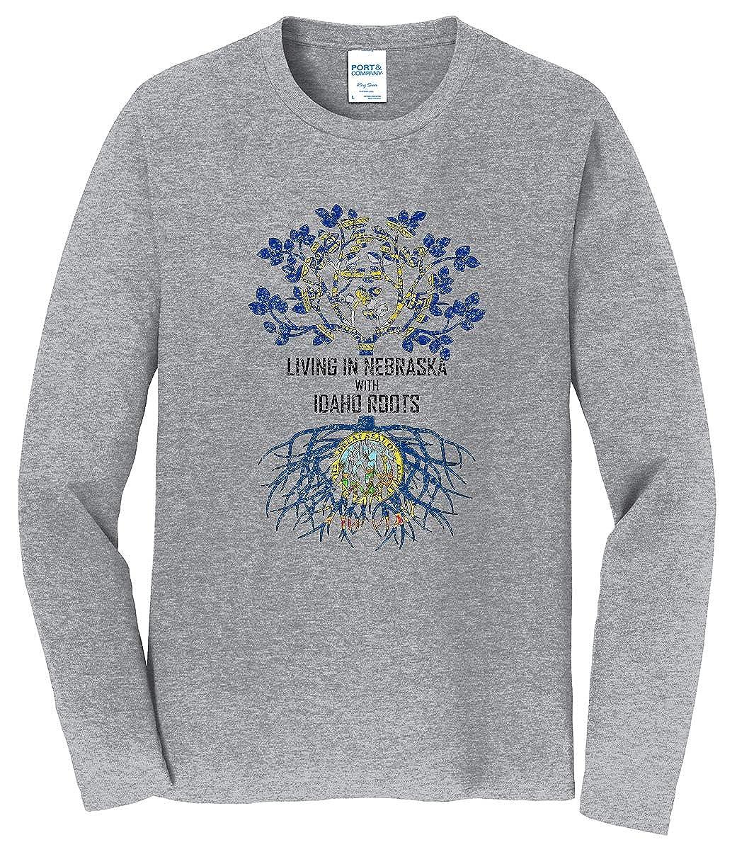 Tenacitee Mens Living in Nebraska Idaho Roots T-Shirt