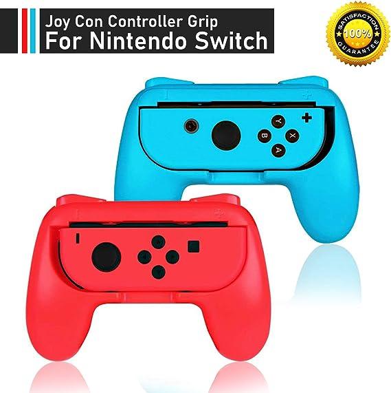 2 x manijas de control rojo y azul controlador para Nintendo Switch Joy-Con: Amazon.es: Videojuegos