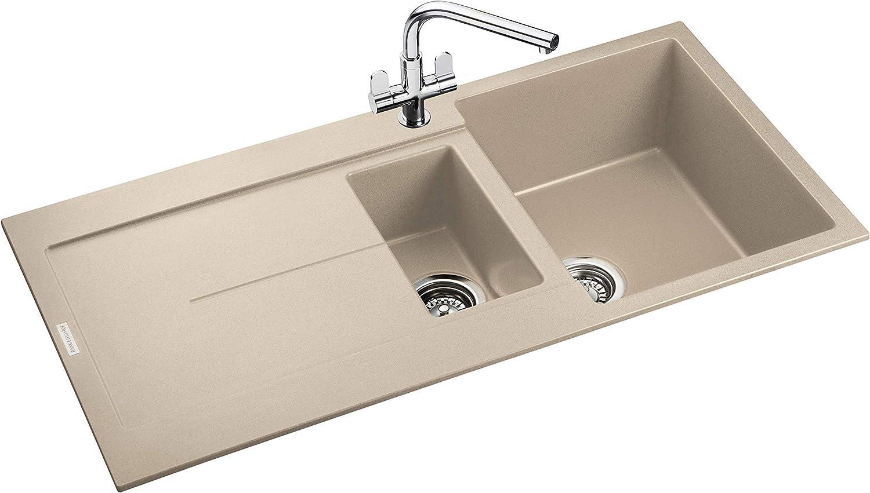 Rangemaster SCO1052AS// Scoria IGNEOUS 1000500 1.5 Bowl ASH Kitchen Sink