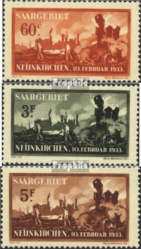 Promoción por tiempo limitado Prophila Collection SAAR 168-170 (Completa.edición.) 1933 Explosión Accidental (Sellos para los coleccionistas)